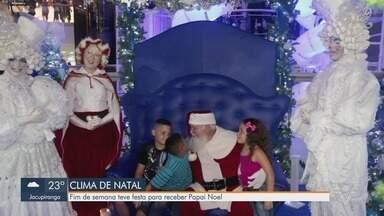 Shoppings da Baixada Santista realizam festas para a chegada do Papai Noel - Shoppings de Santos e São Vicente realizaram festas e passeatas para celebrar a chegada do Natal.