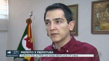 Prefeito de Barretos processa o próprio município para receber R$ 260 mil em férias e 13º - Guilherme Ávila (PSDB) alega que Supremo Tribunal Federal (STF) concedeu direito a administradores municipais.