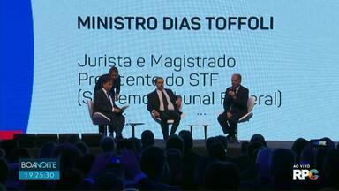 Ministro do STF participa de Congresso do Tribunal de Contas - Dias Toffoli, presidente do STF, fez a palestra de abertura do congresso.