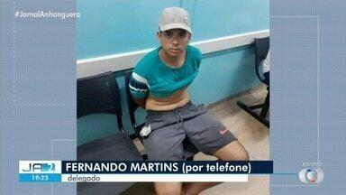 Ex-namorado é preso suspeito de matar vigilante em Senador Canedo - Ele estava escondido na zona rural de São Miguel do Araguaia, onde tem familiares. Segundo a polícia, ele mudou a aparência para tentar enganar a polícia.