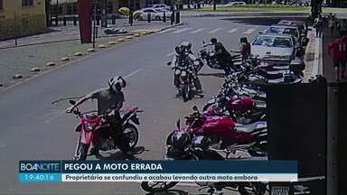 Mulher confunde a própria moto e leva pra casa a errada - O verdadeiro dono chamou a polícia, que conseguiu desvendar a história.