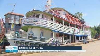 Barco leva literatura para 5 comunidades do Arquipélago do Bailique, em Macapá - Programação acontece de terça-feira (12) até sexta-feira (15).