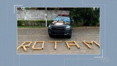 Rotam apreende 100 kg de maconha em Goiânia - Quatro homens foram presos.