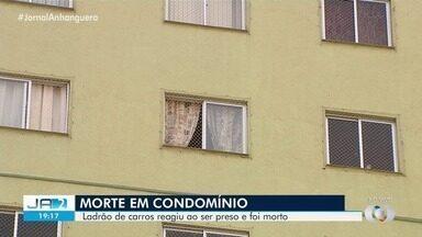 Polícia cumpre mandado de prisão em prédio de Goiânia - Caso terminou em troca de tiros e com um assaltante morto.