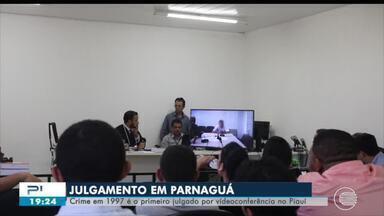 Primeiro julgamento por videoconferência do Piauí acontece em Parnaguá no Sul do Piauí - Primeiro julgamento por videoconferência do Piauí acontece em Parnaguá no Sul do Piauí