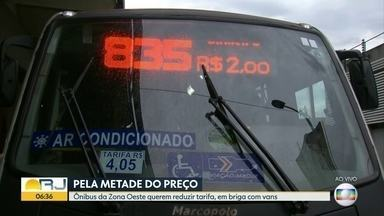 Ônibus pela metade do preço - Empresas de ônibus da zona oeste querem redução da tarifa para concorrer com vans