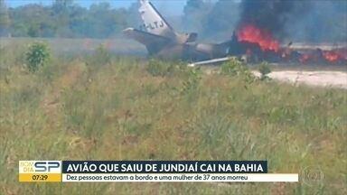 Uma pessoa morre em queda de avião na Bahia - Aeronave partiu de Jundiaí e caiu no município de Maraú