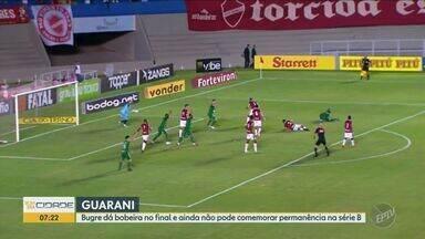 Guarani entra em campo contra o Operário neste sábado (16) - Partida pela Série B do Brasileiro será no Estádio Brinco de Ouro da Princesa, em Campinas, às 16h30.