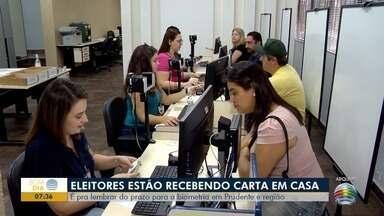 Eleitores recebem cartas sobre importância de cadastro da biometria - Cartórios estão de plantão nesta sexta-feira (15).