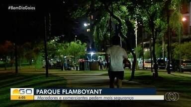 Moradores reclamam de insegurança no Parque Flamboyant, em Goiânia - Quiosques foram assaltados várias vezes.