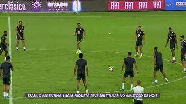 Brasil deve enfrentar a Argentina em amistoso com Paquetá como titular - Brasil deve enfrentar a Argentina em amistoso com Paquetá como titular