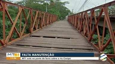 Condições precária da ponte de ferro em Cuiabá - Condições precária da ponte de ferro em Cuiabá.