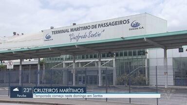 Temporada de cruzeiros começa neste domingo (17) em Santos - Expectativa é de que mais de 600 mil pessoas circulem pelo Terminal Marítimo de Santos até o dia 14 de abril de 2020.