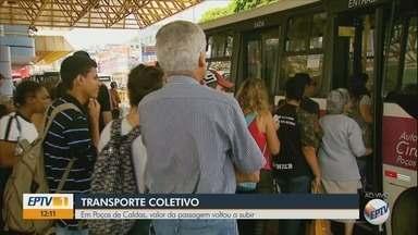 Tarifa de ônibus volta a custar R$ 4 em Poços de Caldas - Tarifa de ônibus volta a custar R$ 4 em Poços de Caldas
