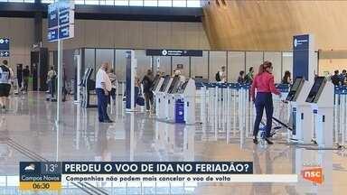 Procon de SC começa a notificar empresas aéreas no aeroporto de Florianópolis - Procon de SC começa a notificar empresas aéreas no aeroporto de Florianópolis