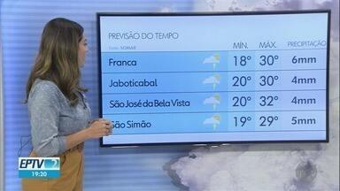 Veja a previsão do tempo para quarta-feira (20) na região de Ribeirão Preto - Áreas de instabilidade se aproximam da região e já pode chover um pouco mais.