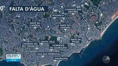 Fornecimento de água será suspenso em 9 bairros de Salvador por causa de obras do BRT - Interrupção ocorrerá por conta de remanejamento de trecho da rede distribuidora.