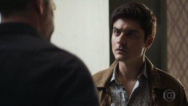 Agno questiona Leandro sobre arma - Agno agradece a ajuda de hacker para acabar com Fabiana