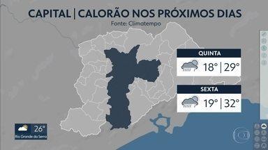 Saiba a previsão do tempo para os próximos dias na Grande São Paulo - Na capital, a previsão é de calorão nos próximos dias.