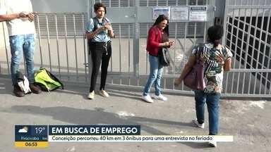 Bom Dia São Paulo - Edição de Quinta-Feira, 21/11/2019 - Paralisação afeta empresas de ônibus da Zona Leste de SP. Em busca de emprego, mulher percorre 40 km em 3 ônibus. Maternidade de Guarulhos pode fechar, segundo os funcionários.
