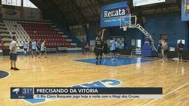 Time de basquete de Rio Claro joga contra o Mogi das Cruzes pelo NBB - A equipe enfrenta o vice-líder fora de casa, às 19h.