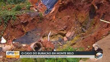 Moradores querem que providências sejam tomadas sobre 'buracão' em Monte Belo (MG) - undefined