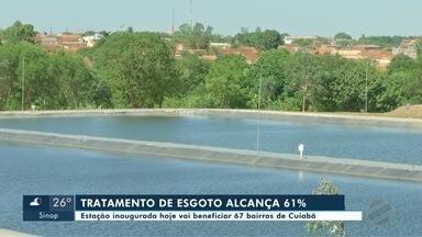 Inaugurada nova estação de tratamento de esgoto em Cuiabá - Inaugurada nova estação de tratamento de esgoto em Cuiabá.