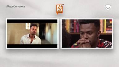 David Junior se emociona ao rever entrevista e fala sobre ser protagonista - No Papo de Novela de Dia da Consciência Negra o ator falou sobre o momento que se reconheceu bonito