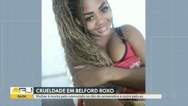 Polícia investiga dois casos de feminicídio em Belford Roxo - Adriana Valério foi assassinada pelo namorado no dia do seu aniversário, os filhos da vítima estavam na sala assistindo TV. Jéssica da Silva Salles foi assassinada pelo ex-namorado que não aceitava o fim do relacionamento.
