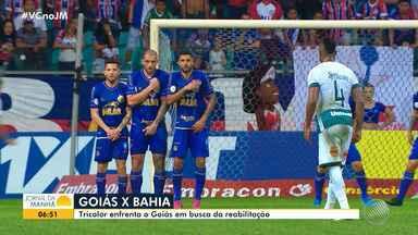 Há sete jogos sem vencer, Bahia se prepara para enfrentar o Goiás no domingo - Jogo acontece às 16h e vai ter transmissão da Rede Bahia. Tricolor baiano previsa vencer para continuar sonhando com vaga na Libertadores.