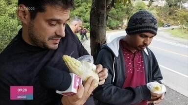 André Cuvello mostra plantação de milho na cordilheira dos Andes - Repórter está viajando em um ônibus rumo a Lima para assistir à final da Libertadores