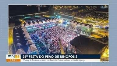 Veja a agenda cultural para esta sexta-feira na região de Presidente Prudente - Rinópolis tem show com o cantor Wesley Safadão.