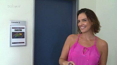 Luciana Cardoso se prepara para apresentar camarim de Faustão - Confira!