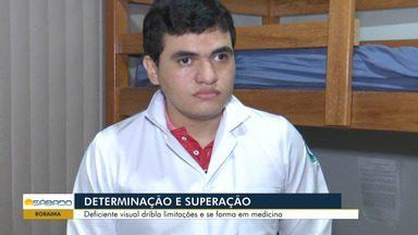 Em Roraima, estudante supera deficiência visual para cursar medicina - Estudante tem alto grau de deficiência visual.