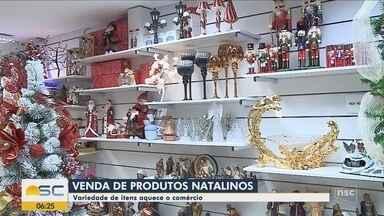 Lojas de decoração se preparam para as vendas de Natal em SC - Lojas de decoração se preparam para as vendas de Natal em SC