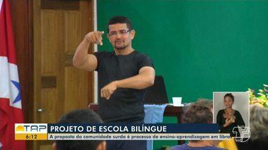 Reunião discute projeto de implantação de escola bilíngue para surdos em Santarém - Ideia é iniciativa da própria comunidade surda, que propõe o ensino de Libras.