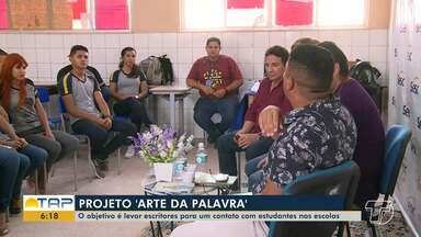 Em Santarém, projeto 'Arte da Palavra' leva escritores a escolas - Projeto tem sido desenvolvido em todo o país.