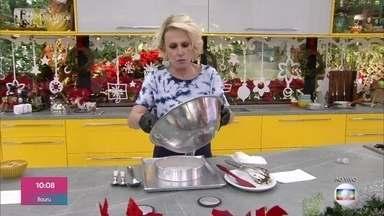 Aprenda fazer uma receita deliciosa de brownie para as festividades de fim de ano - Ana Maria mostra o passo á passo de como fazer uma receita deliciosa de brownie
