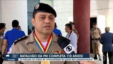 Comemoração: 4º Batalhão da Polícia Militar completa 110 anos em Uberaba - Solenidade contou com autoridades civis e militares da cidade. Redução da criminalidade no município também foi comemorada.