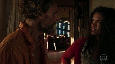 Lurdes descobre que Domênico foi vendido pelo marido - Ela confronta Jandir e acaba provocando um acidente