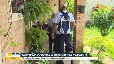 Mutirão contra a dengue em Caraguatatuba - Cidade registrou mais de três mil casos da doença.