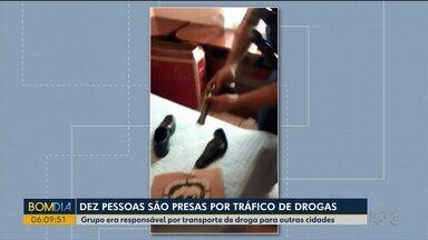 Dez pessoas foram presas por tráfico de drogas - Grupo era responsável por transporte de droga para outras cidades.
