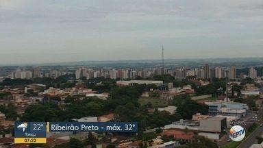 Confira a previsão do tempo para esta quarta-feira (27) em Ribeirão Preto - Temperatura pode chegar a 32°C.