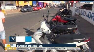 Mulheres são as principais vítimas de roubo de motos em Floriano - Mulheres são as principais vítimas de roubo de motos em Floriano