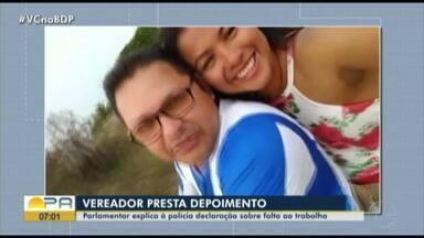 Vereador de Portel presta depoimento sobre falta ao trabalho na câmara - Vereador de Portel presta depoimento sobre falta ao trabalho na câmara