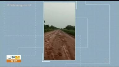 Caminhoneiro denuncia condições precárias de estradas na TO-255 - Caminhoneiro denuncia condições precárias de estradas na TO-255