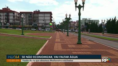 Medianeira pode ter racionamento de água nos próximos dias - Vazão do rio que abastece Medianeira está baixa.