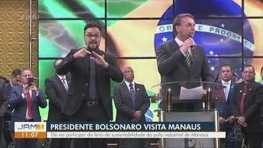 Presidente Jair Bolsonaro visita Manaus - Presidente Jair Bolsonaro visita Manaus.