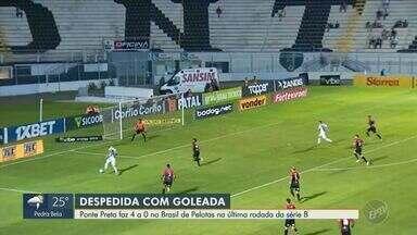 Ponte Preta goleia o Brasil de Pelotas na última rodada da série B - Após 10 partidas sem vencer, time marcou 4 gols a 0 no jogo desta terça-feira (26).