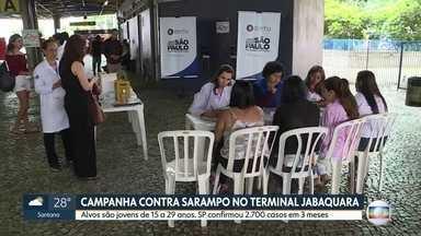 Campanha contra o sarampo no Terminal Jabaquara - Já são mais de 2700 casos da doença
